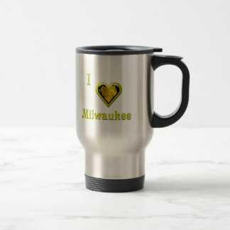 Milwaukee -- with Yellow Flower Travel Mug