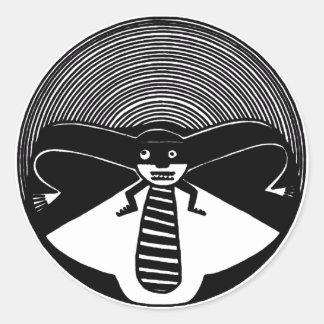 Mimbres Anthropomorphic Animal Round Sticker