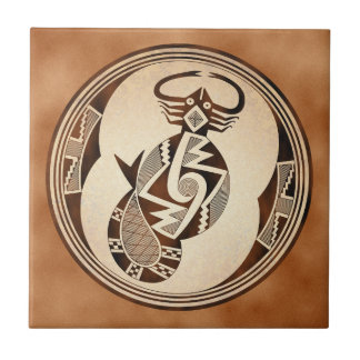 Mimbres Scorpion-Snake-Fish Tile