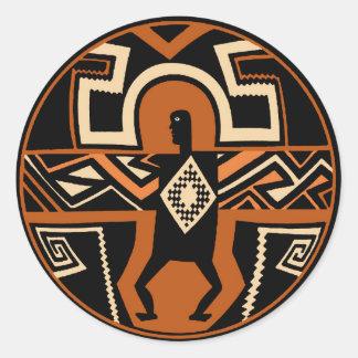 Mimbres Warrior Classic Round Sticker