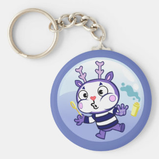 Mime in a Bubble Keychain