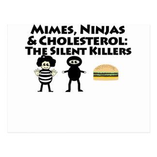 Mimes, Nijas & Cholesterol Postcard