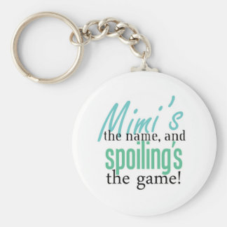 Mimi's the Name, and Spoiling's the Game Keychain
