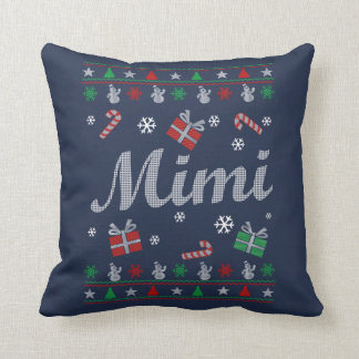 Mimi Christmas Throw Pillow