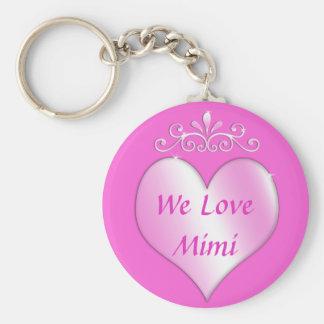 Mimi Grandmother Gifts We Love Mimi Keychain