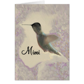 Mimi Hummingbird Greeting Card