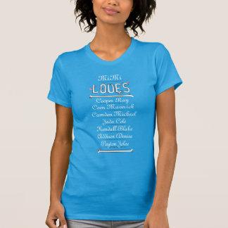 MiMi LOVES Her Grands (7 kids - black & white) T-Shirt