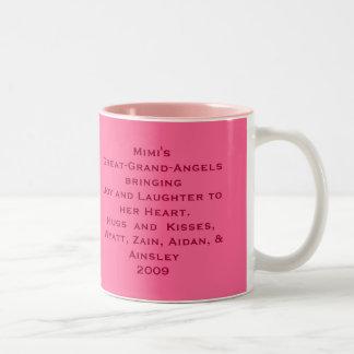 mimi mug, Mimi's Little Angels bringingJoy and ... Two-Tone Coffee Mug