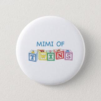 Mimi of Twins Blocks 2 Inch Round Button