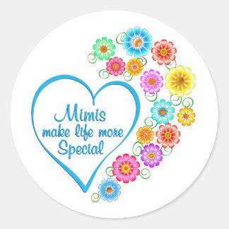 Mimi Special Heart Classic Round Sticker