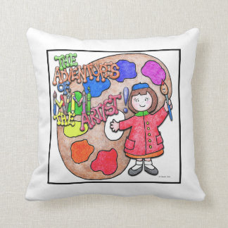 Mimi the Artist Paint PaletteGreat for naptime! Throw Pillow