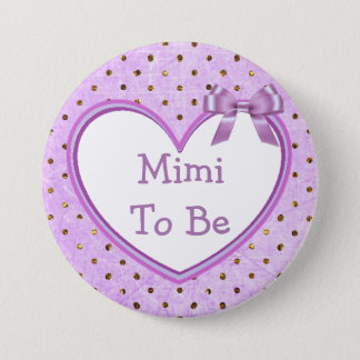 Mimi to be Purple Baby Shower Button