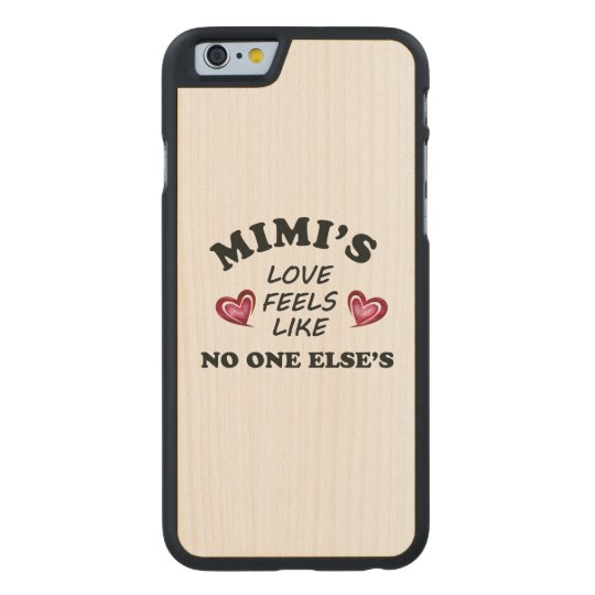 Mimi's Love Carved Maple iPhone 6 Case