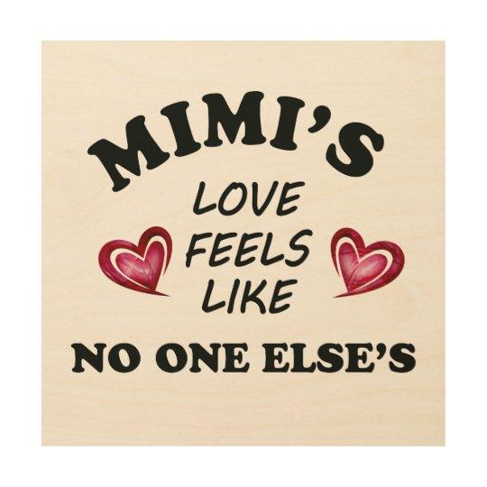 Mimi's Love Wood Wall Decor