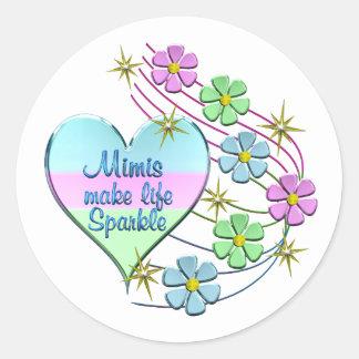Mimis Make Life Sparkle Classic Round Sticker