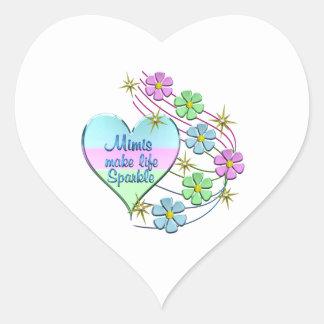 Mimis Make Life Sparkle Heart Sticker