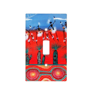 Mimmi Aboriginal Art Light Switch Cover