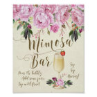 Mimosa Bar Wedding Sign Lilac purple