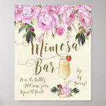 Mimosa Bar Wedding Sign Lilac purple