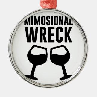 Mimosional Wreck Metal Ornament