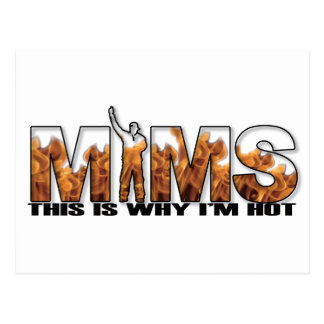 MIMS Postcard - This is Why I m Hot Logo - Black
