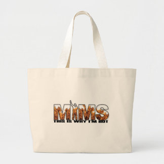 MIMS Totebag - This is Why I m Hot Logo - Black Canvas Bag