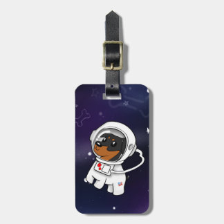 Min Pin Astronaut in Space Luggage Tag