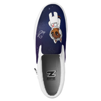 Min Pin Astronaut in Space Slip on Sneakers Shoes