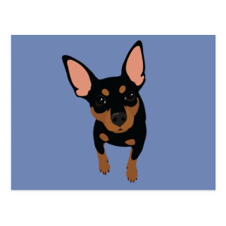 Min Pin (black) Postcard