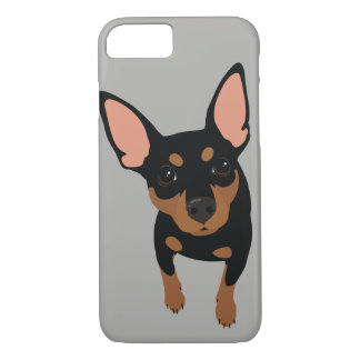 Min Pin (Black) Smartphone 7 Plus Phone Case
