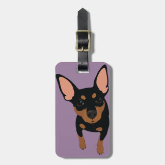 Min Pin (Black Tan) Luggage Tag