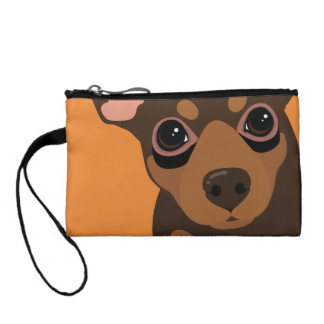 Min Pin Chocolate Pinscher Key Coin Clutch