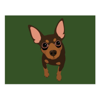 Min Pin (Chocolate) Postcard