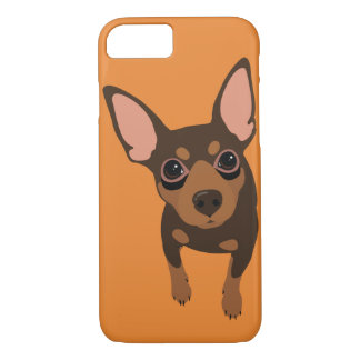 Min Pin (Chocolate) Smartphone 7 Plus iPhone Case