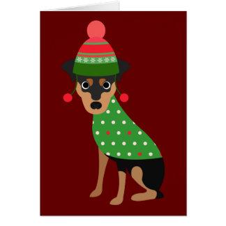 Min Pin Christmas Card