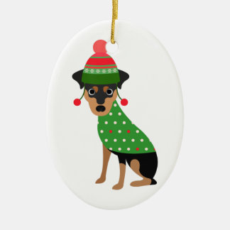 Min Pin Christmas Ornament