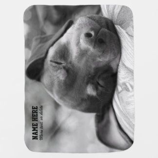 Min Pin Dog Personalized Pet Blanket