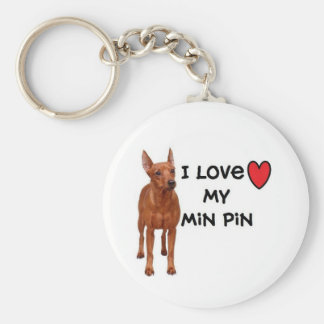 "Min Pin Keychain""I love my Min Pin"" Keychain"