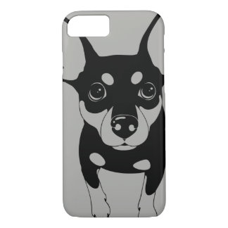 Min Pin (line art) Smartphone 7 Plus Phone Case