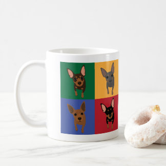 Min Pin Lover Classic Coffee Mug (Min Pin POP ART)