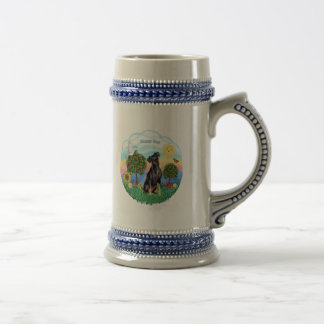 Min Pin (natural ears) Beer Stein