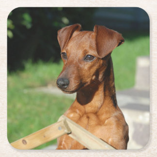 min pin on gate square paper coaster