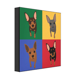 Min Pin POP ART Canvas Art Poster