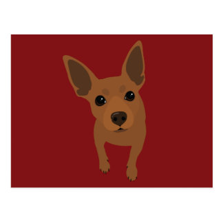 Min Pin (Red / Tan) Postcard