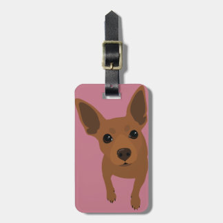 Min Pin (Rust / Red) Luggage Tag