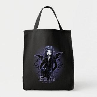 """""""Mina"""" Gothic Blue Bite Me Vampire Fairy Tote Bag"""