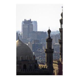 Minarets view of Sultan Ali mosque Cairo Custom Stationery