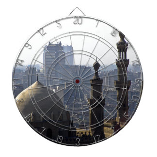 Minarets view of Sultan Ali mosque Cairo Dartboard