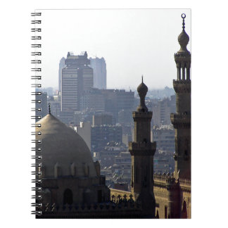 Minarets view of Sultan Ali mosque Cairo Notebook