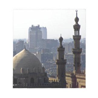 Minarets view of Sultan Ali mosque Cairo Notepad